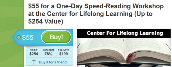 Groupon for Speed Reading